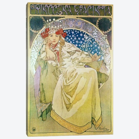 Princess Hyacinth (1911) Canvas Print #15176} by Alphonse Mucha Art Print
