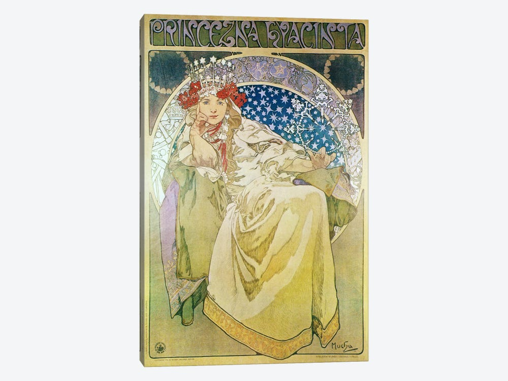 Princess Hyacinth (1911) by Alphonse Mucha 1-piece Canvas Wall Art