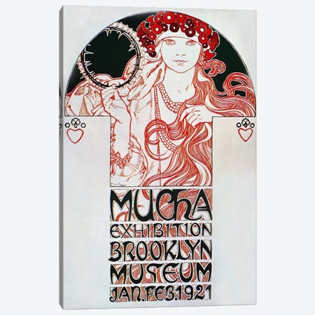 Brooklyn Exhibition (1921) Canvas Print #15177} by Alphonse Mucha Art Print