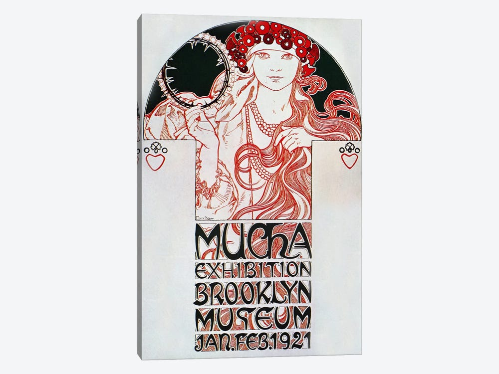 Brooklyn Exhibition (1921) by Alphonse Mucha 1-piece Canvas Art Print