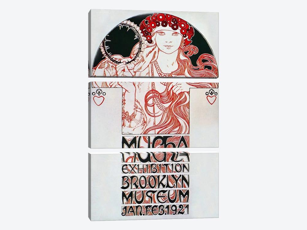 Brooklyn Exhibition (1921) by Alphonse Mucha 3-piece Art Print