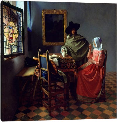 The Wine Glass by Johannes Vermeer Art Print