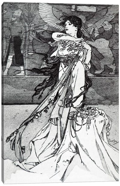 Illustration from Rama (1898) Canvas Art Print