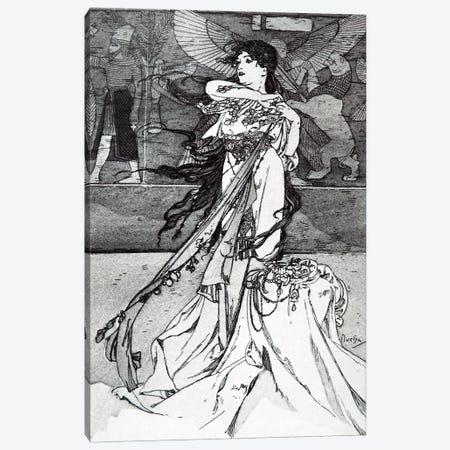 Illustration from Rama (1898) Canvas Print #15187} by Alphonse Mucha Canvas Artwork