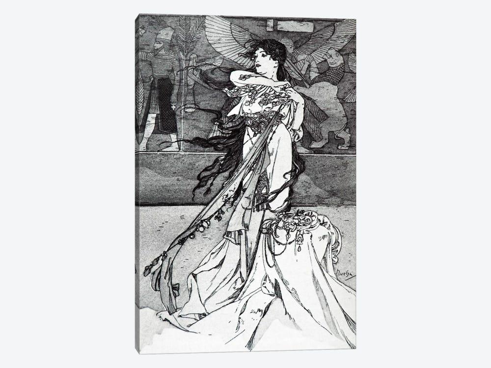 Illustration from Rama (1898) by Alphonse Mucha 1-piece Canvas Wall Art