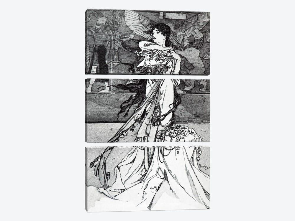 Illustration from Rama (1898) by Alphonse Mucha 3-piece Canvas Art