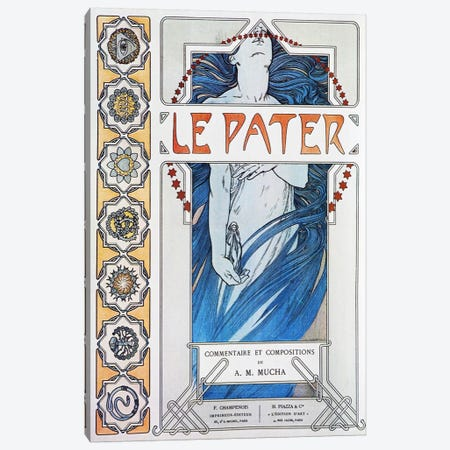 Le Pater (1899) Canvas Print #15189} by Alphonse Mucha Canvas Art Print