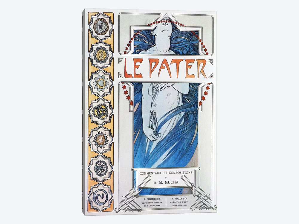 Le Pater (1899) by Alphonse Mucha 1-piece Canvas Artwork