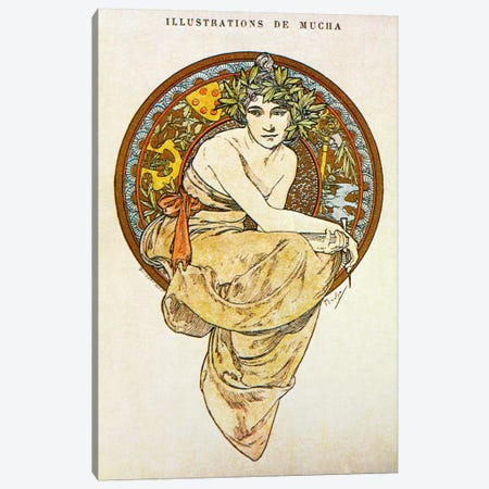 Clio (1900) Canvas Print #15190} by Alphonse Mucha Canvas Artwork