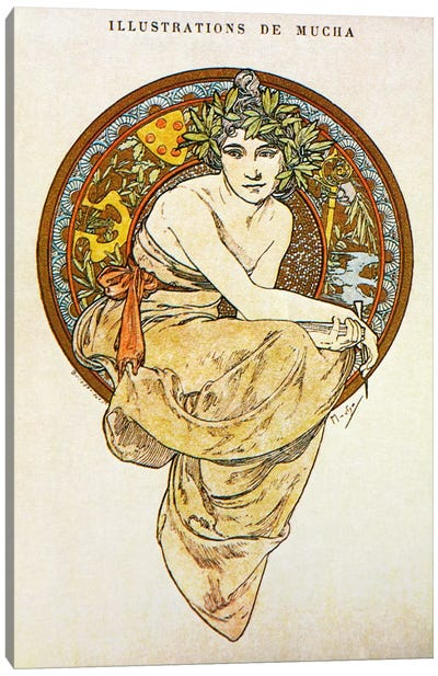 Clio (1900) by Alphonse Mucha Canvas Artwork