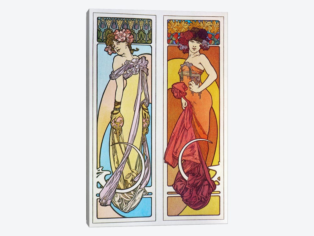 Documents Decoratifs (1902) by Alphonse Mucha 1-piece Canvas Print