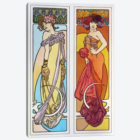 Documents Decoratifs (1902) Canvas Print #15191} by Alphonse Mucha Canvas Art