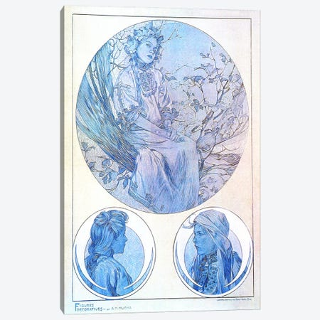 Plate 45 from 'Documents Decoratifs', 1902 Canvas Print #15192} by Alphonse Mucha Canvas Art