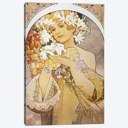 Flowers, 1897 Canvas Print #15196} by Alphonse Mucha Canvas Art Print