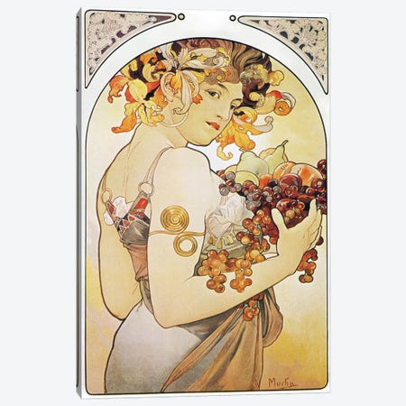 Fruit, 1897 Canvas Print #15197} by Alphonse Mucha Art Print