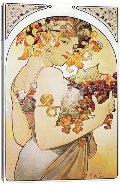 Fruit, 1897 by Alphonse Mucha Art Print