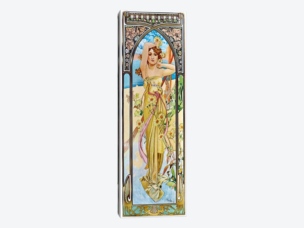 Daybreak, 1899 by Alphonse Mucha 1-piece Canvas Art Print
