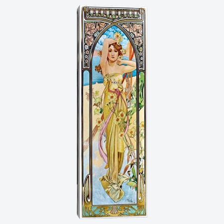 Daybreak, 1899 Canvas Print #15204} by Alphonse Mucha Art Print