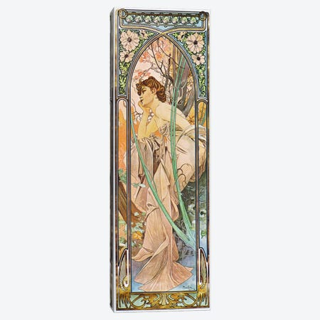 Evening Reverie, 1899 Canvas Print #15205} by Alphonse Mucha Art Print