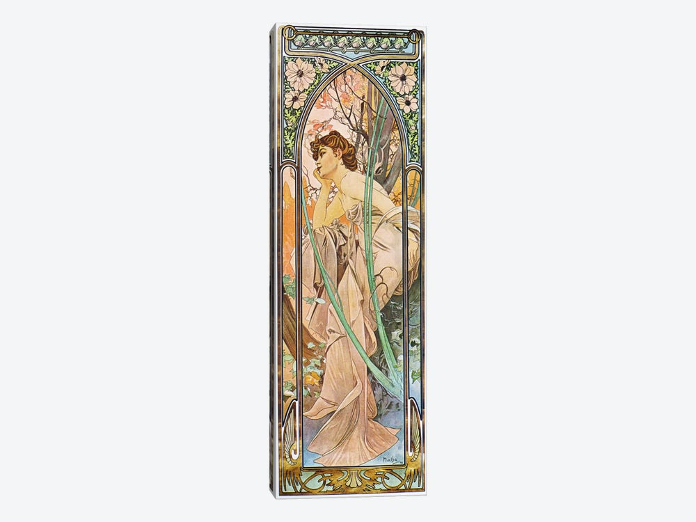Evening Reverie, 1899 by Alphonse Mucha 1-piece Canvas Wall Art