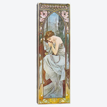 Nocturnal Slumber, 1899 Canvas Print #15206} by Alphonse Mucha Canvas Art Print