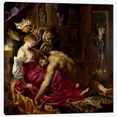 Samson & Delilah Canvas Print #1520} by Peter Paul Rubens Art Print