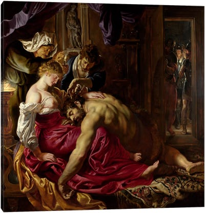 Samson & Delilah Canvas Art Print