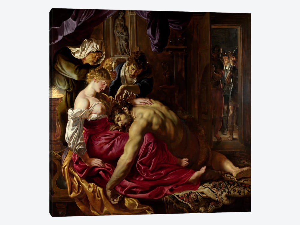 Samson & Delilah by Peter Paul Rubens 1-piece Canvas Wall Art