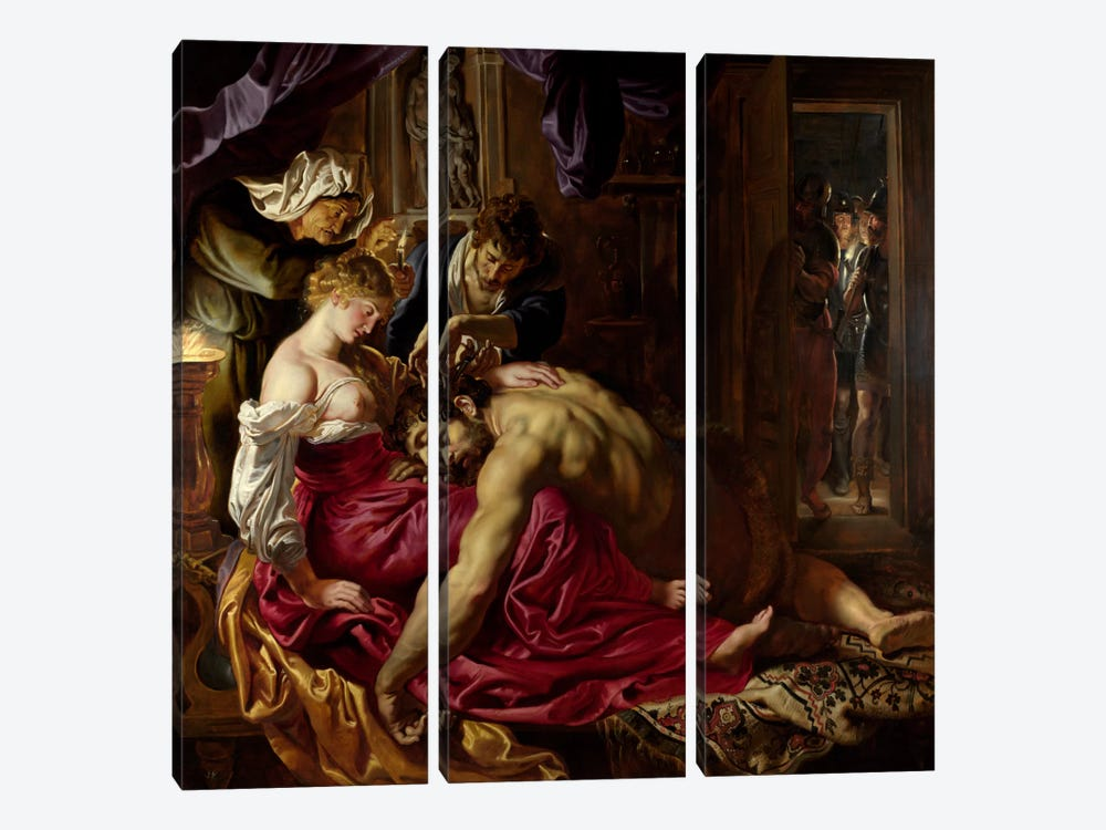 Samson & Delilah by Peter Paul Rubens 3-piece Canvas Artwork