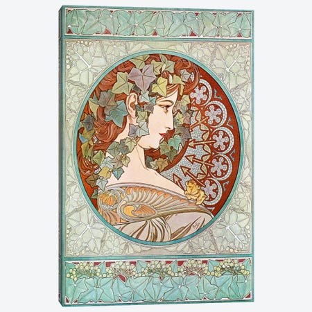 Ivy, 1901 #2 Canvas Print #15211} by Alphonse Mucha Art Print
