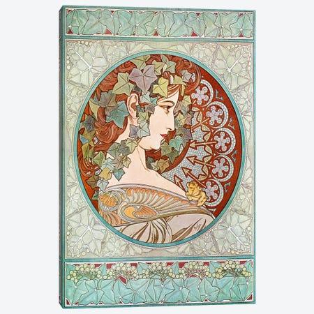 Ivy, 1901 #2 Canvas Print #15211} by Alphonse Mucha Art Print