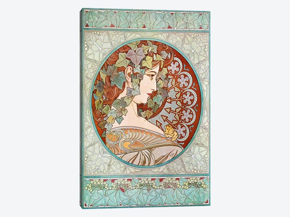 Ivy, 1901 #2 by Alphonse Mucha 1-piece Canvas Art Print