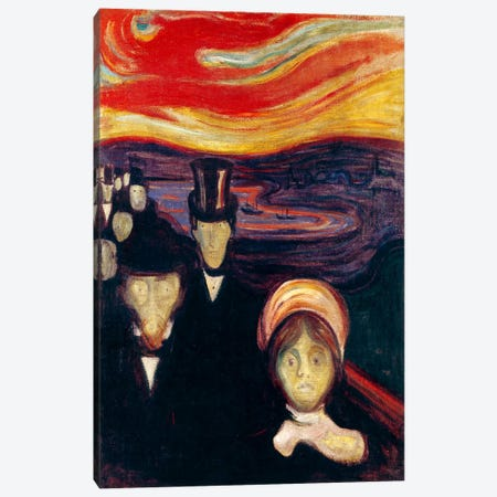 Anxiety, 1894 Canvas Print #15216} by Edvard Munch Canvas Wall Art
