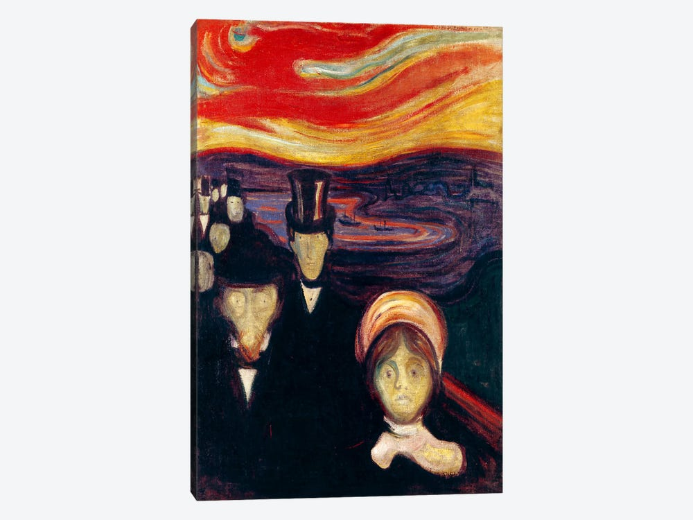 Anxiety, 1894 by Edvard Munch 1-piece Canvas Art