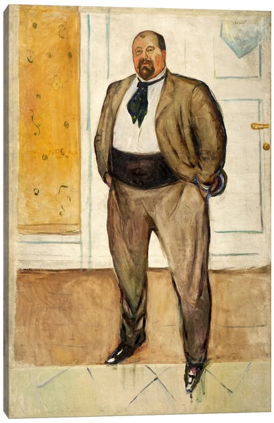 Consul Christen Sandberg, 1901 by Edvard Munch Canvas Art Print