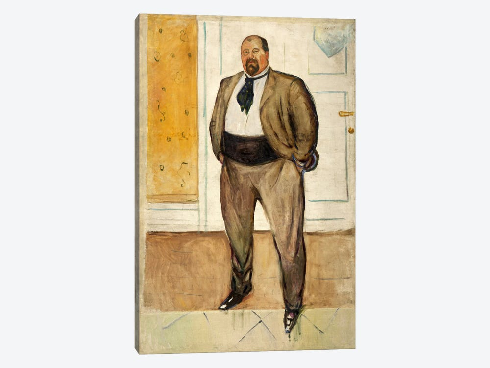 Consul Christen Sandberg, 1901 by Edvard Munch 1-piece Canvas Artwork
