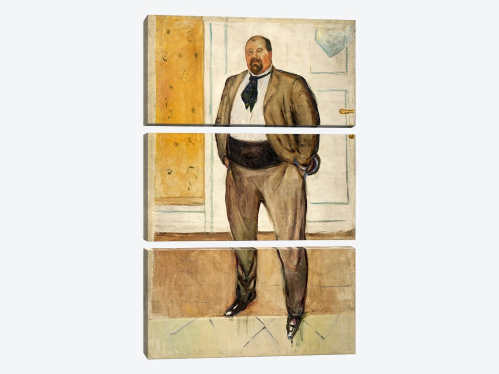 Consul Christen Sandberg, 1901 by Edvard Munch 3-piece Canvas Wall Art
