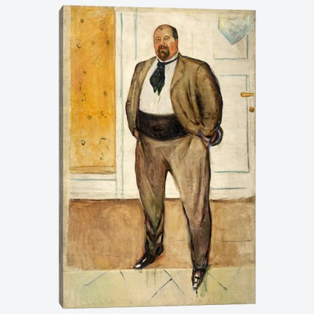 Consul Christen Sandberg, 1901 Canvas Print #15218} by Edvard Munch Canvas Art Print