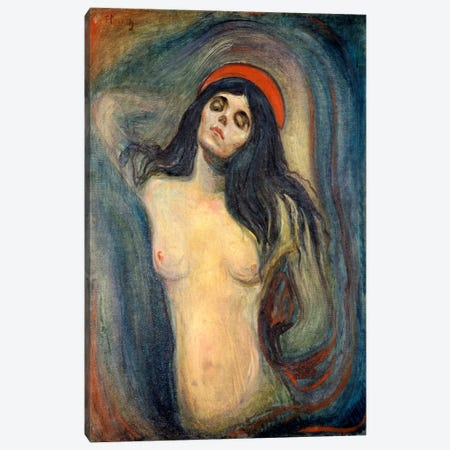 Madonna, 1895 Canvas Print #15220} by Edvard Munch Canvas Artwork