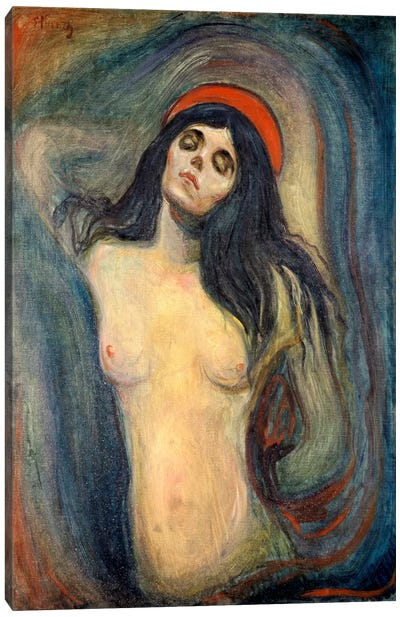 Madonna, 1895 by Edvard Munch Canvas Artwork