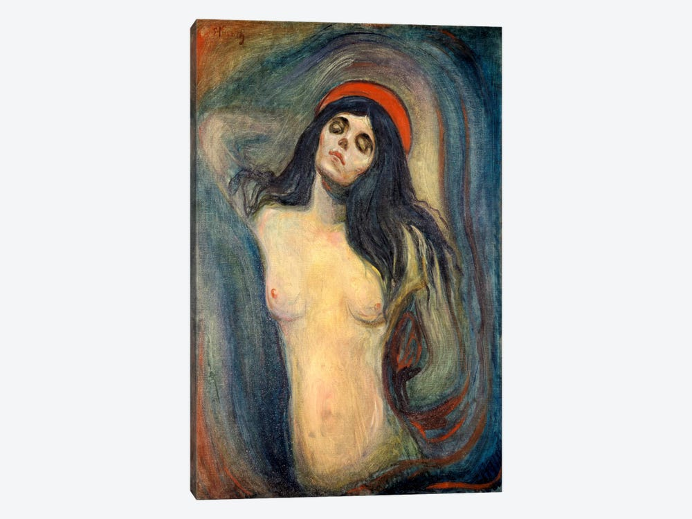 Madonna, 1895 by Edvard Munch 1-piece Canvas Art Print