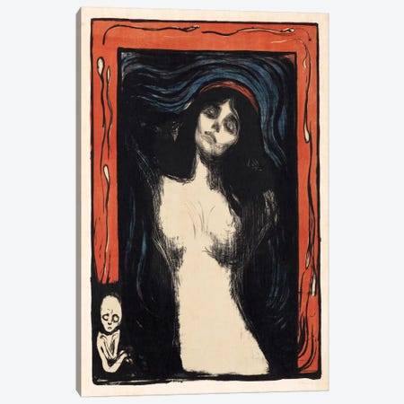Loving Woman (Madonna), 1902 Canvas Print #15221} by Edvard Munch Canvas Art