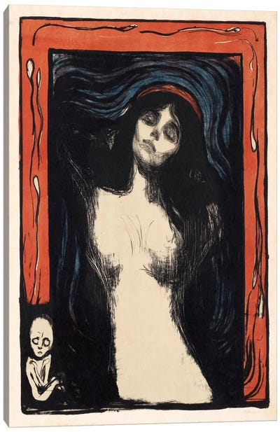 Loving Woman (Madonna), 1902 by Edvard Munch Canvas Art
