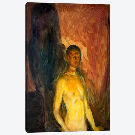 Self-Porrait in Hell, 1903 Canvas Print #15223} by Edvard Munch Canvas Wall Art