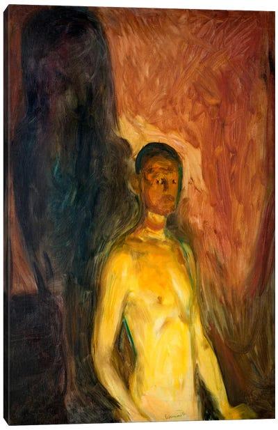 Self-Porrait in Hell, 1903 Canvas Art Print