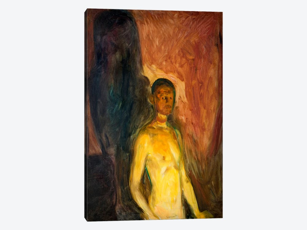 Self-Porrait in Hell, 1903 by Edvard Munch 1-piece Canvas Artwork