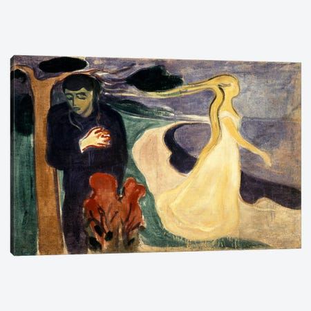 Seperation, 1900 Canvas Print #15225} by Edvard Munch Canvas Print