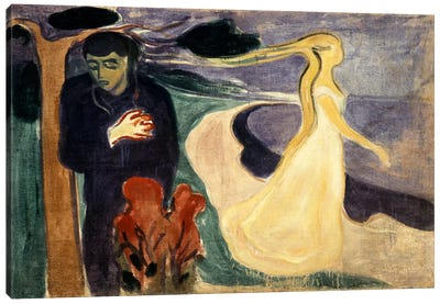 Seperation, 1900 by Edvard Munch Canvas Print