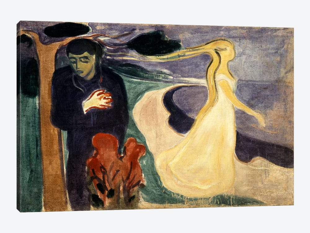 Seperation, 1900 by Edvard Munch 1-piece Canvas Wall Art