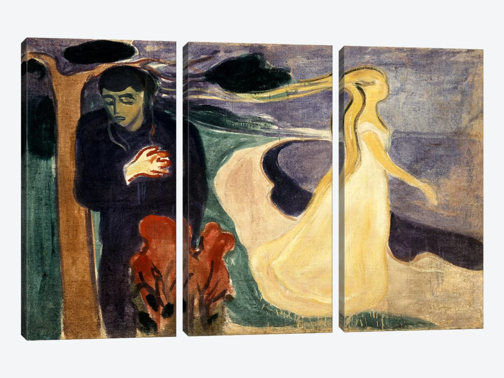 Seperation, 1900 by Edvard Munch 3-piece Canvas Wall Art
